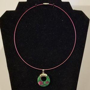 Gemstone Go-Go Memory Wire Necklace